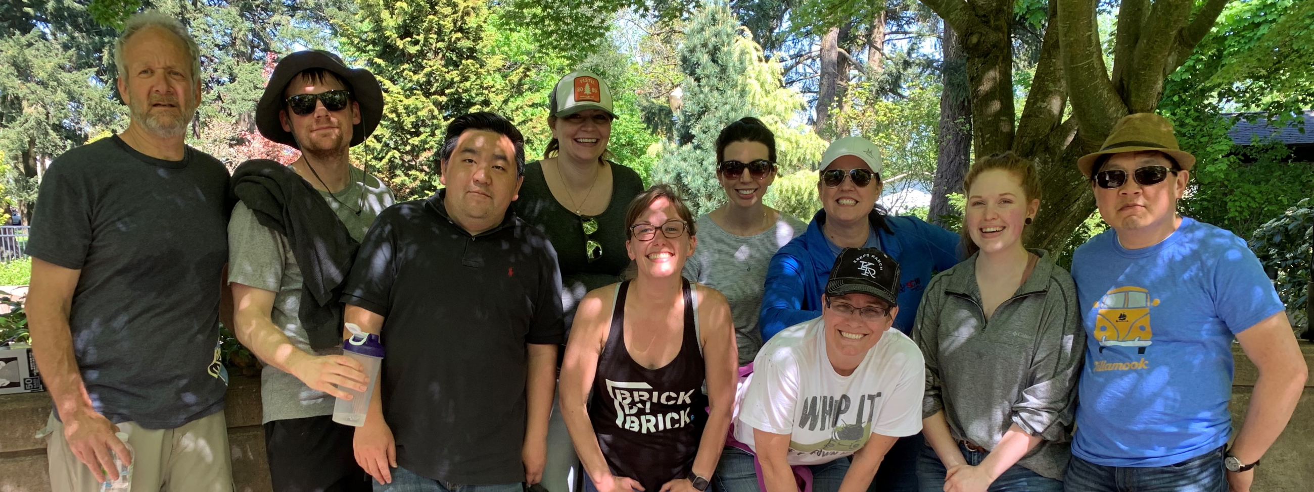 Members of our team volunteering at the Portland Memory Garden